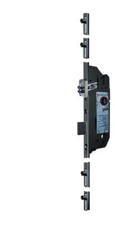 Замок рейка Schuring RV-150P 92/40/16 ролик 2100 мм це аналог FUHR з ригелем і приводом від ключа.