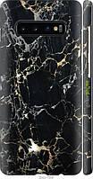 "Чехол на Samsung Galaxy S10 Plus Черный мрамор ""3846c-1649-8094"""