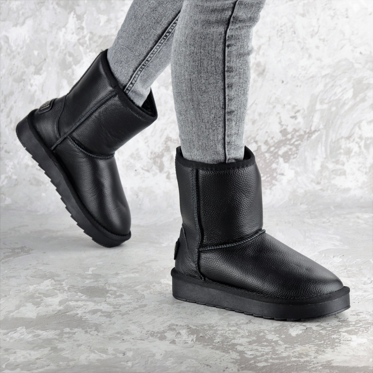 Угги женские Fashion Cinnamon 2342 40 размер 25,5 см Черный