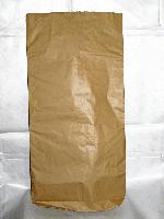 Мешок бумажный без печати, 3 слоя, бурый