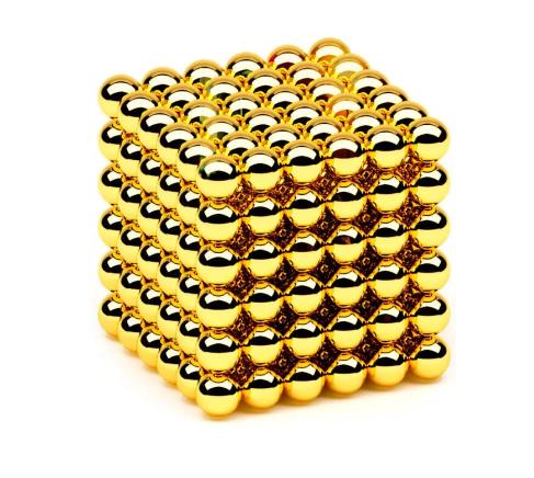 Неокуб Магнітний конструктор-головоломка NeoCube 216 кульок по 5 мм золото