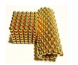 Неокуб Магнітний конструктор-головоломка NeoCube 216 кульок по 5 мм золото, фото 2