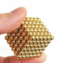 Неокуб Магнітний конструктор-головоломка NeoCube 216 кульок по 5 мм золото, фото 3
