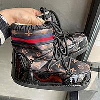 Угги Женские Гуччи на меху; Сноубутсы Gucci женские повседневные; Тёплые UGG Gucci женская обувь
