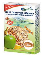 Безмолочная органическая каша Fleur Alpine пшенично-овсянная с кусочками банана и яблока 175 г (4006303002778)
