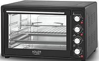Духовка электрическая печь с решеткой и противнем Adler AD 6010 2000 W 45 л Black