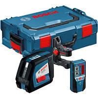 Нивелир лазерный Bosch GLL 2-50 + BM1 (новый) + LR2 в L-Boxx 0601063109, фото 1