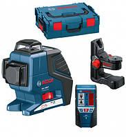 Нивелир лазерный Bosch GLL 3-80 P + BM1 (новый) + LR2 в L-Boxx 060106330A, фото 1