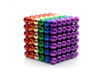 Неокуб Магнитный конструктор головоломка NeoCube 216 шариков по 5 мм разноцветный