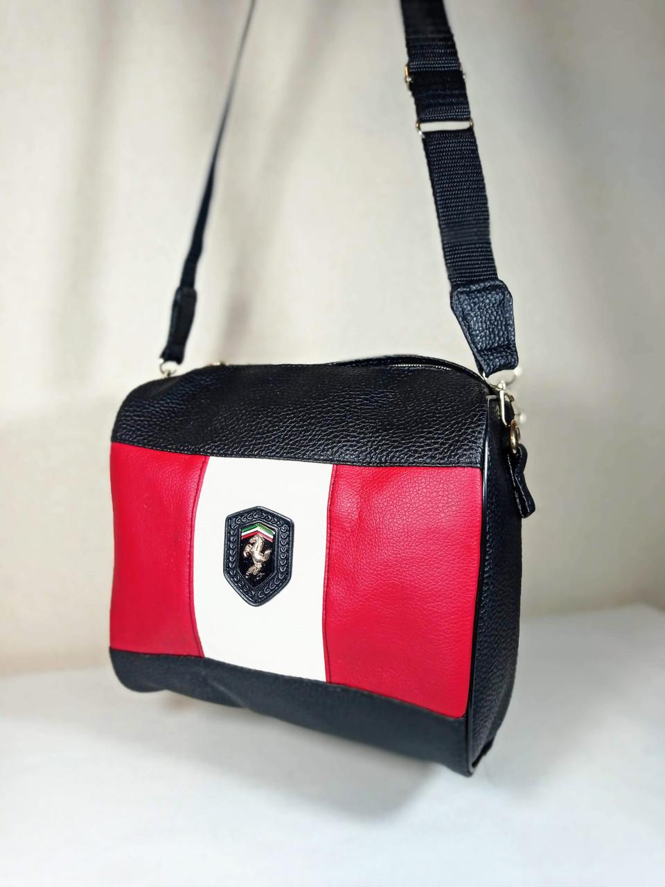 Женская сумка на длином ремешке эко-кожа 4015