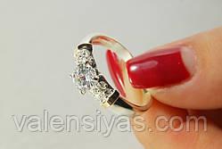 Серебряное кольцо с золотыми пластинами, фото 3