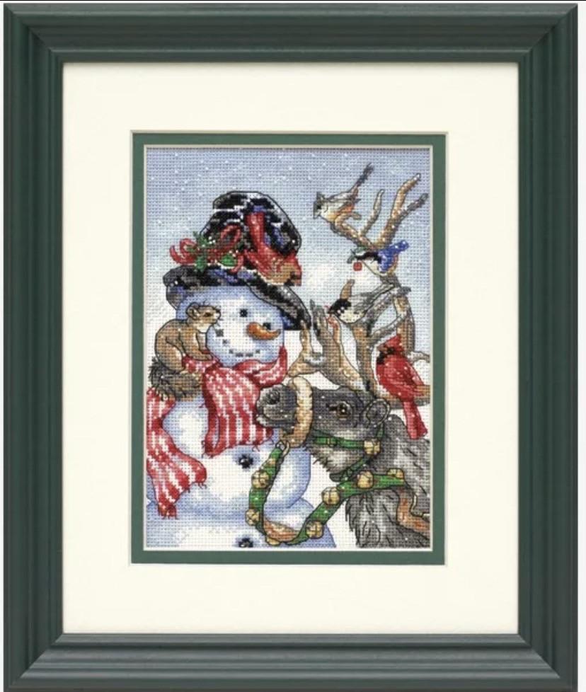 Набор для вышивания крестом Dimensions мулине DMC Милый снеговичек