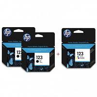 Комплект струйных картриджей HP для Deskjet 2130 №123 Black2/Color (Set123BBC)