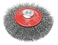 Акция! Щетка VERTO проволочная дисковая, 115 мм х М14 (62H121) [ Скидка 3%, при условии 100% предоплаты!]