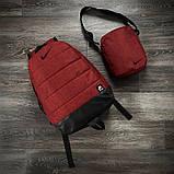 Комплект TWIX рюкзак Nike червоний меланж + барсетка Nike червоний меланж, фото 8