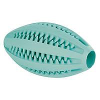 Мяч овальный для зубов Trixie Mintfresh резиновый, регби, 11,5см