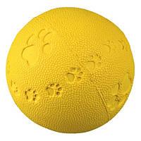 Мяч с лапкой и пищалкой Trixie, 9,5см, 34863