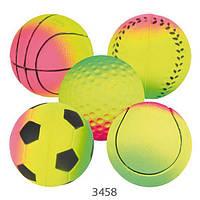 Мяч резиновый Trixie, ассорти, неон, 7см, 3458