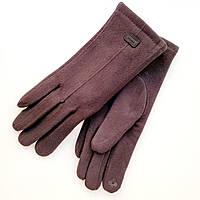 Жіночі рукавички фланель німецька шерсть з сенсорним пальцем на хутрі чорні