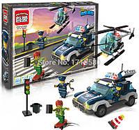 Конструктор 1117 Полиция Brick (Брик) 394 детали аналог LEGO