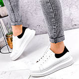 Кроссовки женские QQ белый + черный 2906, фото 2