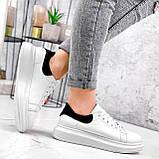 Кроссовки женские QQ белый + черный 2906, фото 3