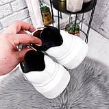 Кроссовки женские QQ белый + черный 2906, фото 6