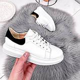 Кроссовки женские QQ белый + черный 2906, фото 7
