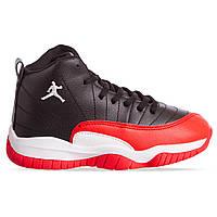 Баскетбольные кроссовки детские Jordan черно-красные 1803-3, 31