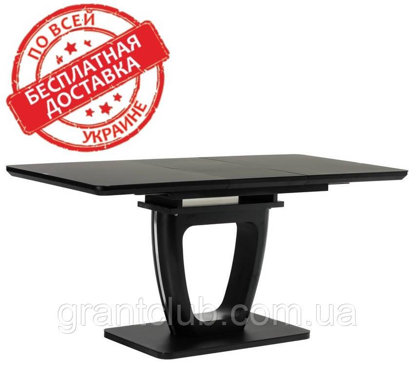 Стіл обідній розсувний TML-560 матовий чорний 120/160х80 (безкоштовна доставка)