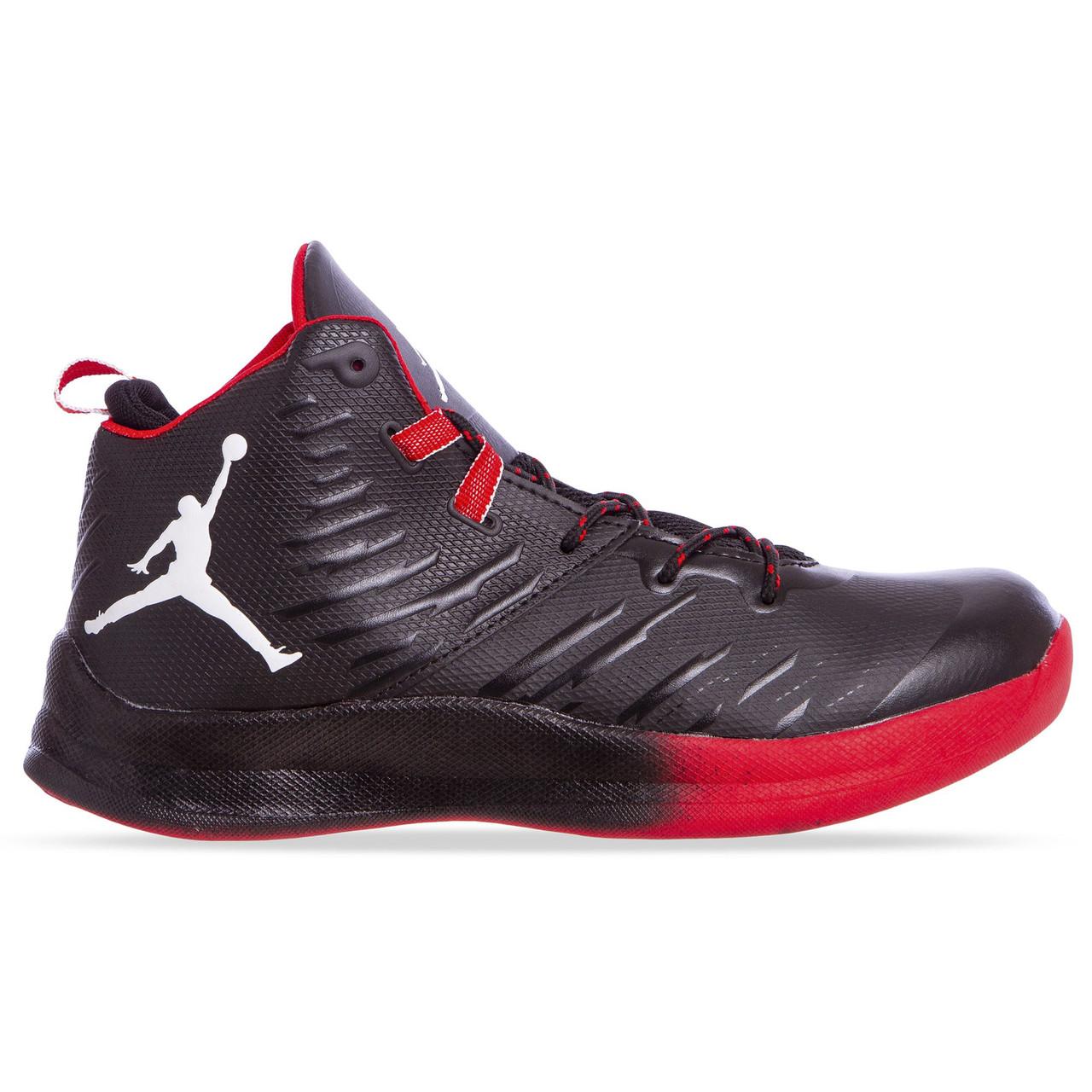 Баскетбольные кроссовки Jordan черно-красные W8509-2, 42