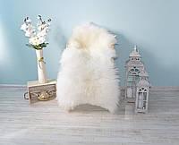 Натуральная овечья шкура белая, размер 120*75см, овеча шкіра, меховой ковер