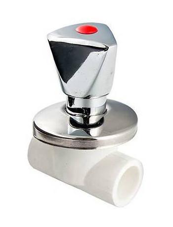 Полипротиленовый вентиль Valtec PPR Хромированный 32 мм