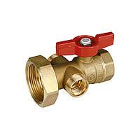 Шаровой клапан Giacomini с выводом 1/2 для термометра R540 и 18-миллиметровым выводом для котельного блока