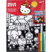 Раскраска с бархатом А3+5фломаст., Hello Kitty