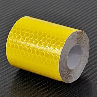 Самоклеющаяся светоотражающая лента 5 х 100 см Yellow (YUI6583)
