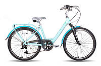 "Велосипед 26"" PRIDE COMFORT рама - 16"" синий глянцевый 2016"