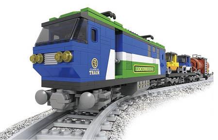 Конструктор Ausini Поезд: Локомотив с грузом, 573 деталей 25808, фото 2