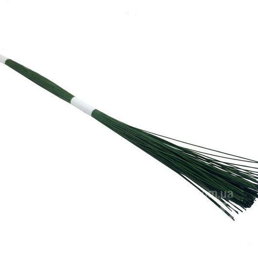 Проволока кондитерская флористическая с обмоткой зелёная №24