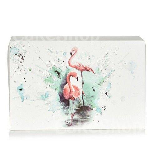 Коробка для эклеров, зефира Фламинго, 23х15х6 см