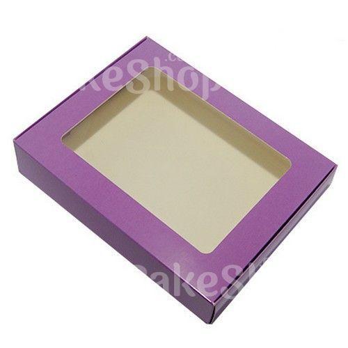 Коробка для пряников 192х148х40 мм, Фиолет