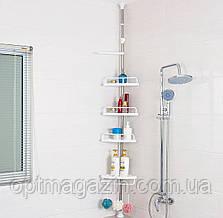 Полки для ванной Multi Corner Shelf, 4 уровня пластиковых полок для ванной, фото 2