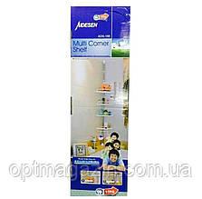 Полки для ванной Multi Corner Shelf, 4 уровня пластиковых полок для ванной, фото 3