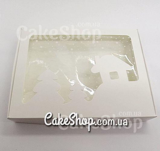 Коробка для пряников с домиком Белая, 15х20х3 см