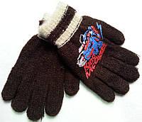 Перчатки детские для мальчиков двойные