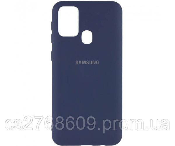 "Чехол силікон ""Silicone Case Original"" Samsung M31, M315 2020 темно синій закритий низ"
