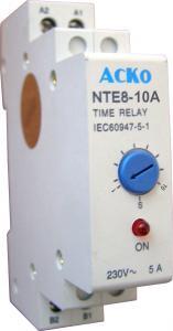 Реле времени АСКО-УКРЕМ NTE8-10A (STE8-10A) задержка отключения 1-10 секунд