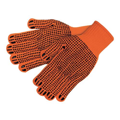 Рукавички робочі помаранчеві (рижі) - 12 шт, ХБ