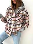 Женская рубашка, пальтовый кашемир, р-р универсальный 42-46 (розовая клетка), фото 2