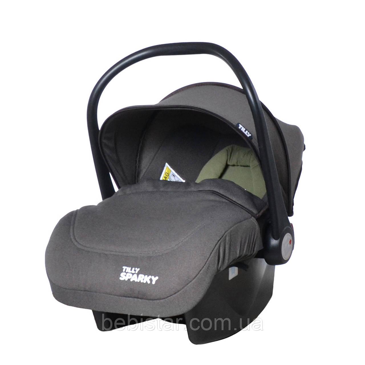 Детское автокресло-переноска серого цвета TILLY Sparky T-511/2 Grey от рождения до 15 месяцев